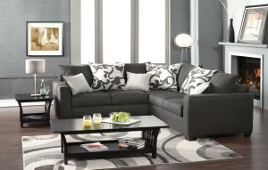 Furniture Of America Sm 3015 Charcoal Grey Sectional Sofa