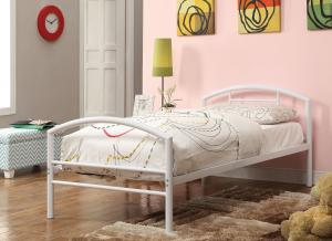 Coaster 400158t White Twin Metal Bed Frame