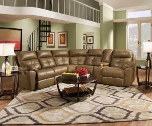 Simmons Beautyrest 53200 Bradford Reclining Sectional Sofa