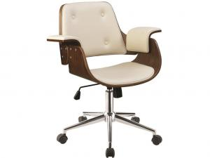Coaster 801428 Office Chair  sc 1 st  Wyckes Furniture & Coaster Office Chair 801428 with Ecru Leatherette and a Wood Base
