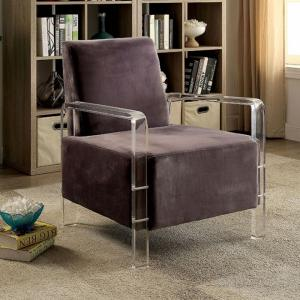 Furniture Of America Ac6187gy Shelia Grey Acrylic Frame