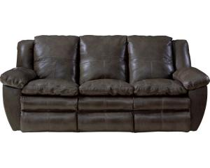Aria Chocolate Collection 4191 By Catnapper Italian Leather Reclining Sofa