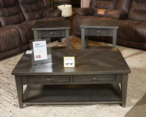 T646 3 Branbury By Ashley Rectangular End Table In Gray Casual Style