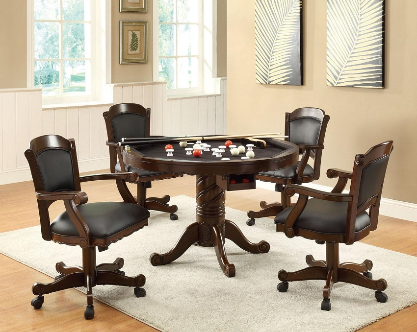 Atlantic Collection 100871 Bumper Pool Poker Game Table