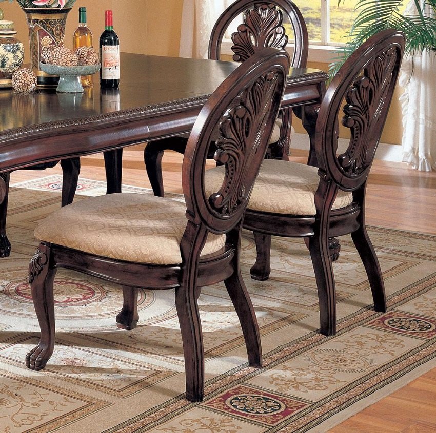 Glass top formal dining set cerritos glass top formal for Formal dining table