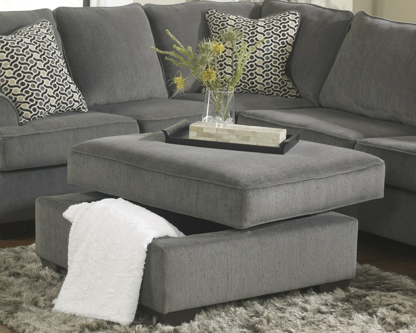 Loric 12700 Smoke Grey Sectional Sofa Living Spaces Ashley