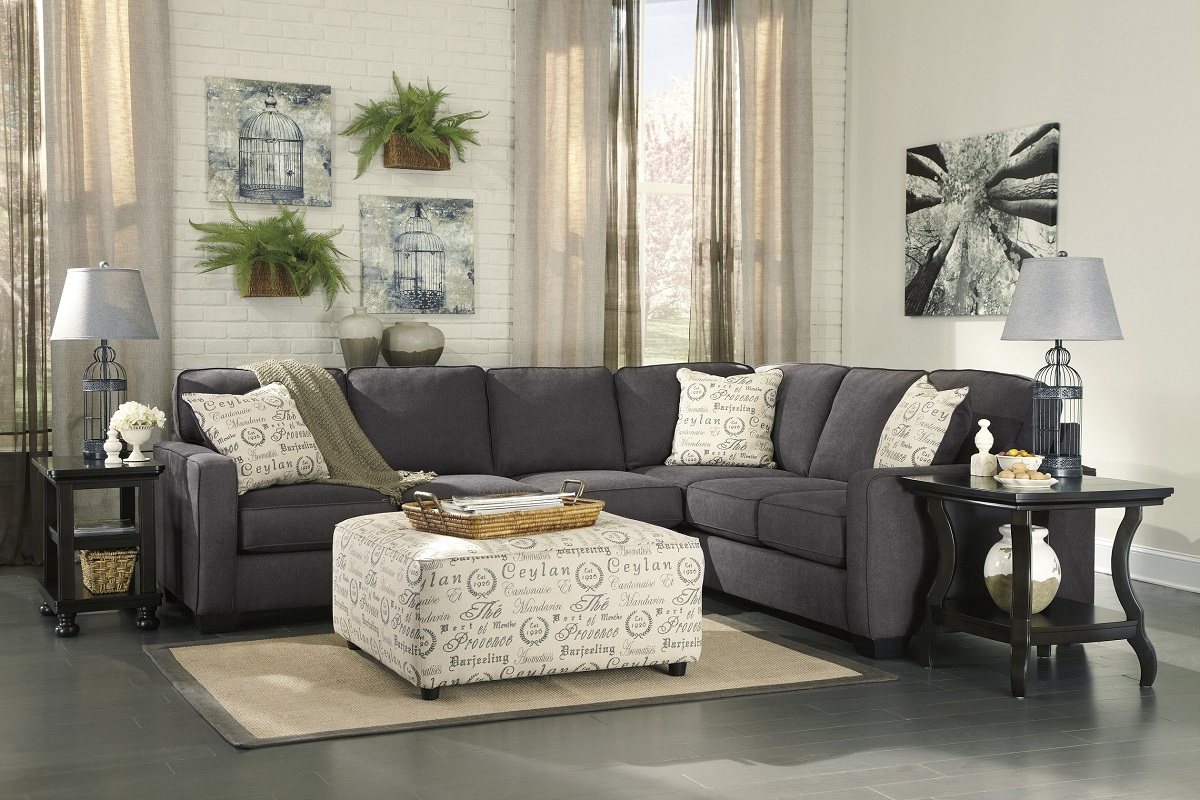 ashley furniture alenya sectional 16601 grey track arm sofa san