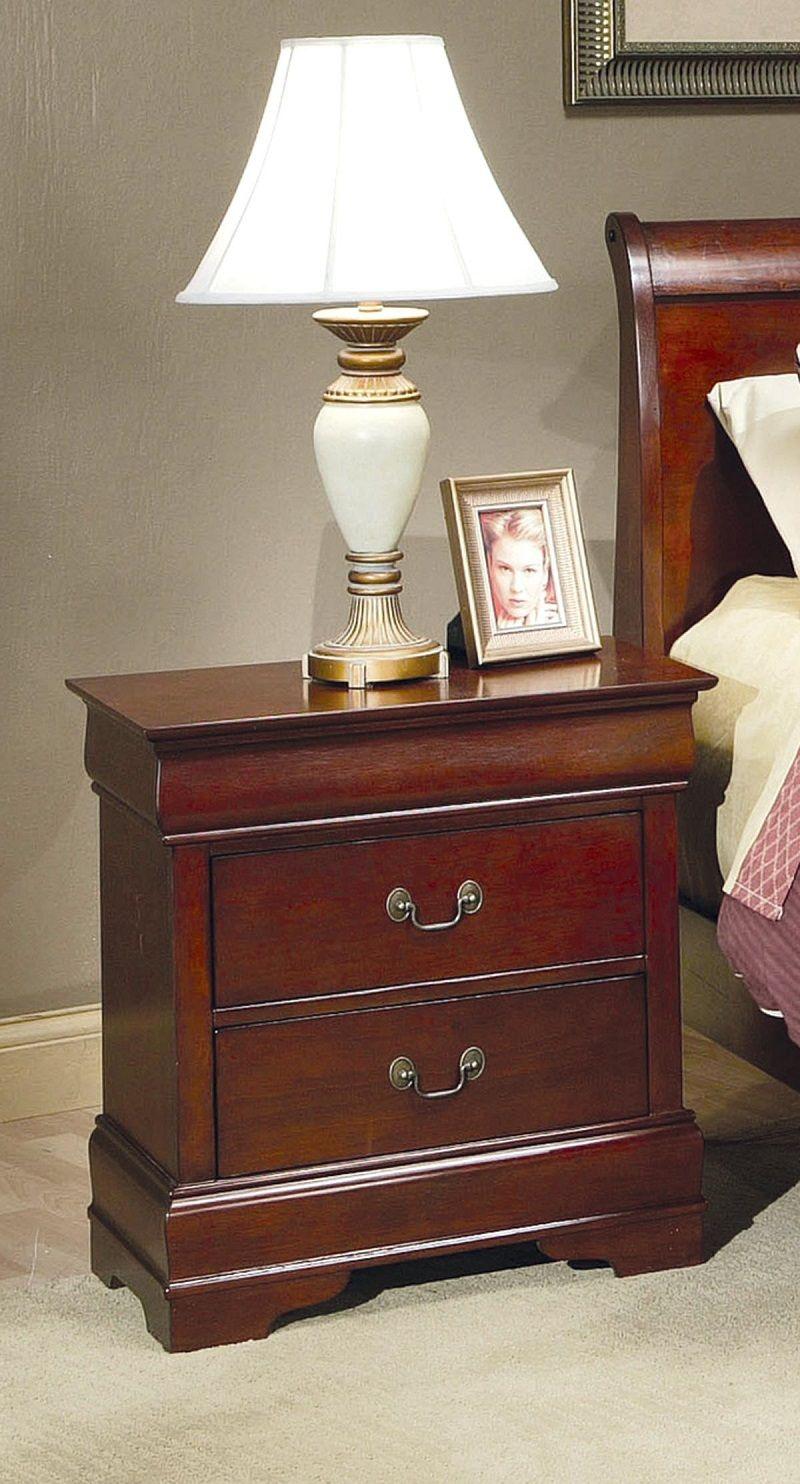 Cherry Finish Storage Bed Orange County Storage Bed