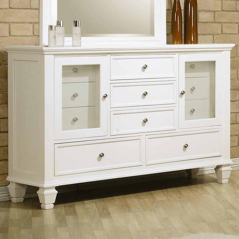 sandy beach collection 201301 white panel bedroom set