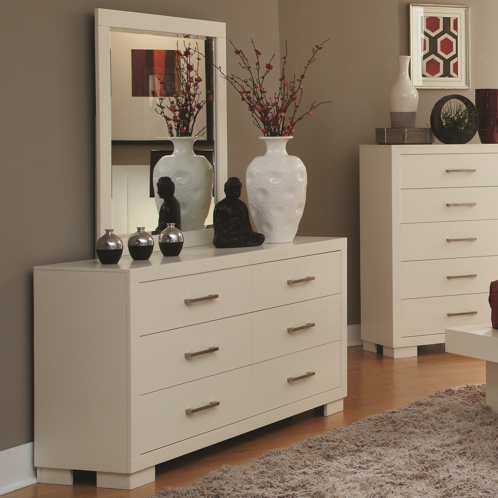 jessica collection 202990 white platform bedroom set. Black Bedroom Furniture Sets. Home Design Ideas