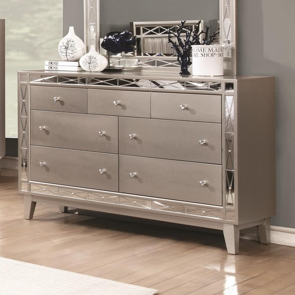 Leighton Collection 204921 Mirrored Panel Transitional