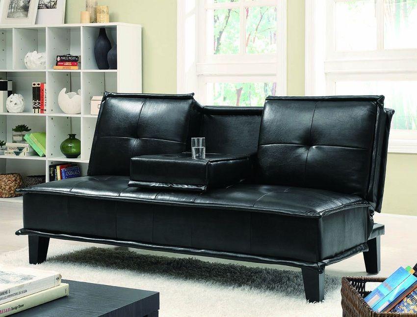Johnson 300138 Black Futon Klik Klak Sofa Bed