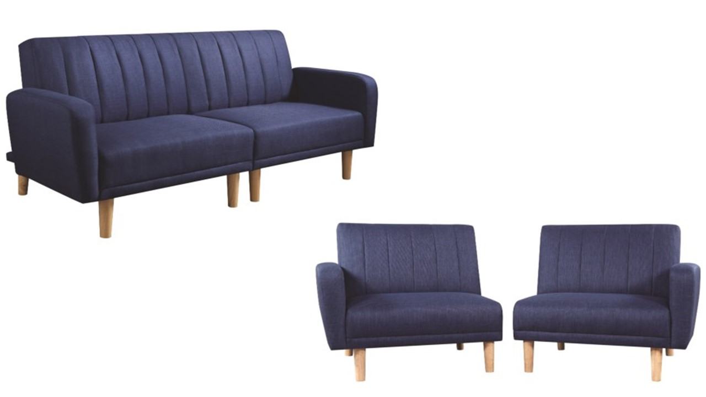 Shaywood 360013 Blue Mid Century Modern Futon