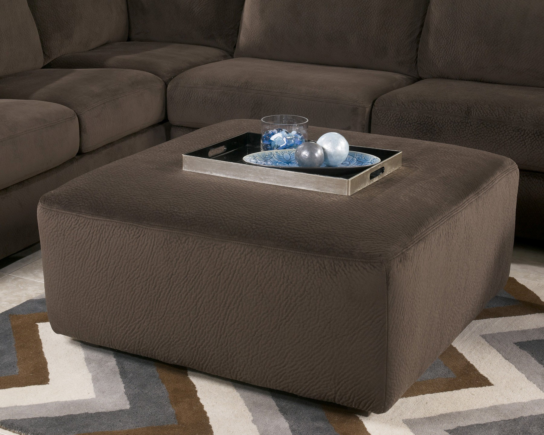 Jessa Place Collection Chocolate Sectional Sofa