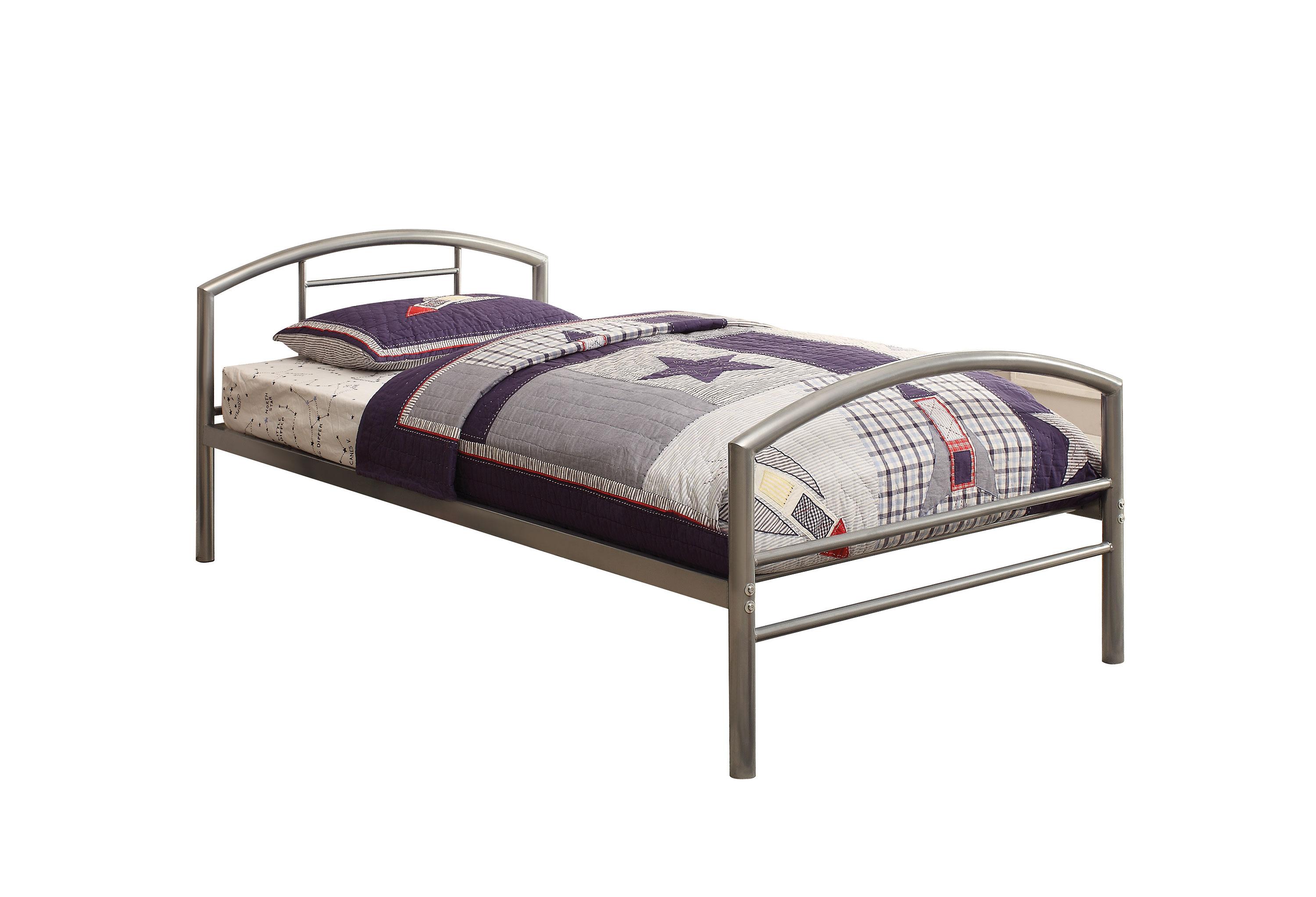 Coaster 400159t Silver Twin Metal Bed Frame