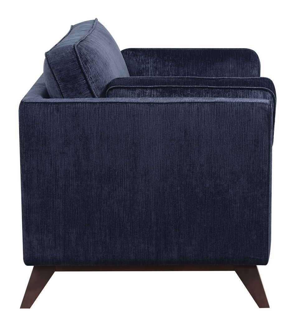 Donny Osmond Home Amsterdam 505524 Ink Blue Mid Century Modern Sofa ~ Blue Sofa And Loveseat Sets