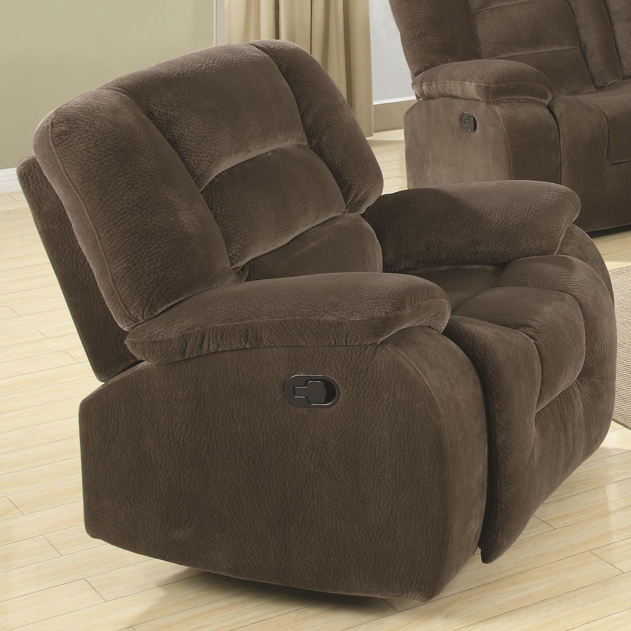 Charlie collection 600991 padded velvet reclining sofa loveseat set Loveseats that recline