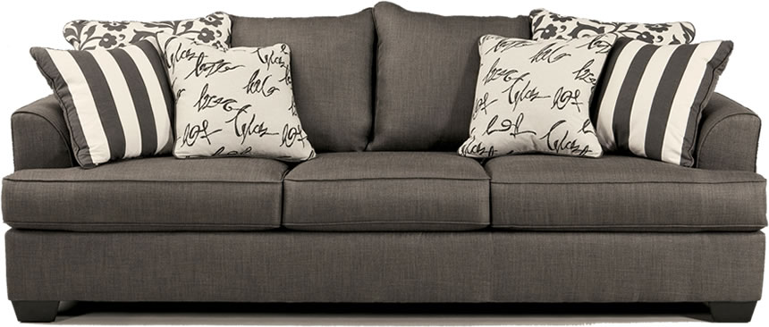 Levon Collection Charcoal Sofa & Loveseat Set