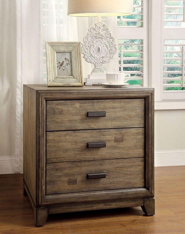 furniture of america antler 7615 ash wood fabric headboard platform bedroom set. Black Bedroom Furniture Sets. Home Design Ideas