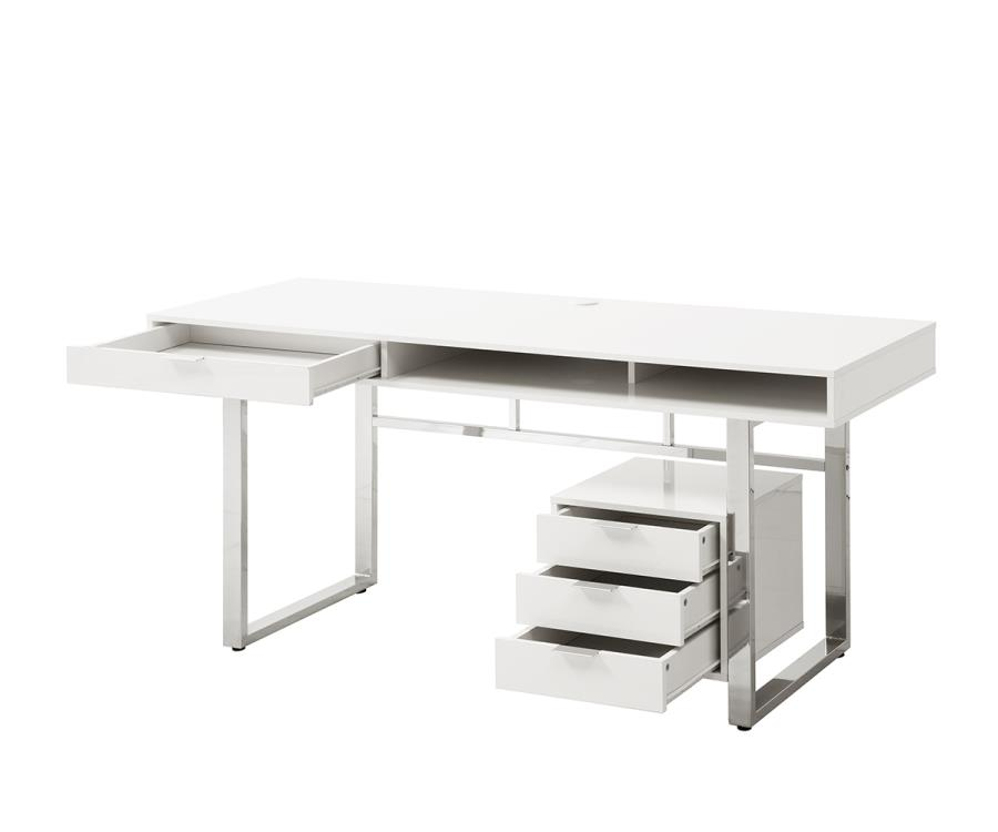 Lawrence Collection 800897 White Contemporary Writing Desk