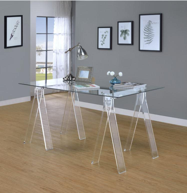Coaster 801535 Tempered Glass Top Writing Desk