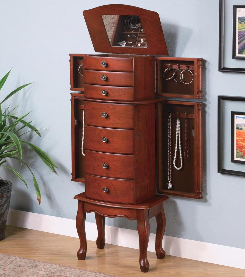 Antique Oak Collection 900125 Jewelry Armoire