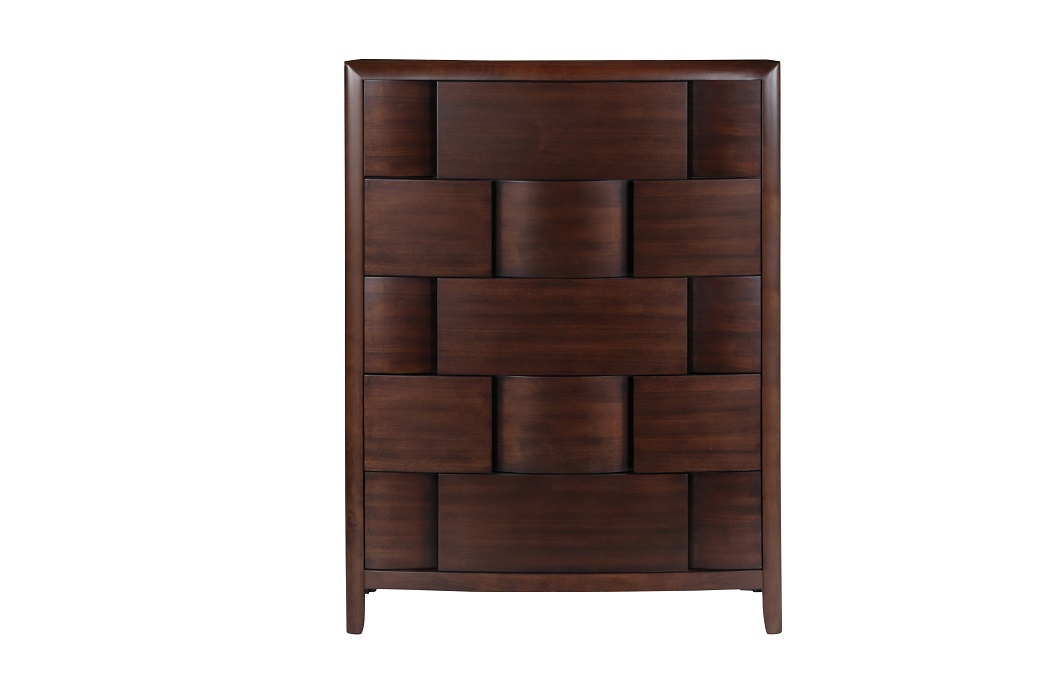 Nova Collection B1428 Contemporary Bed Set In A Chestnut