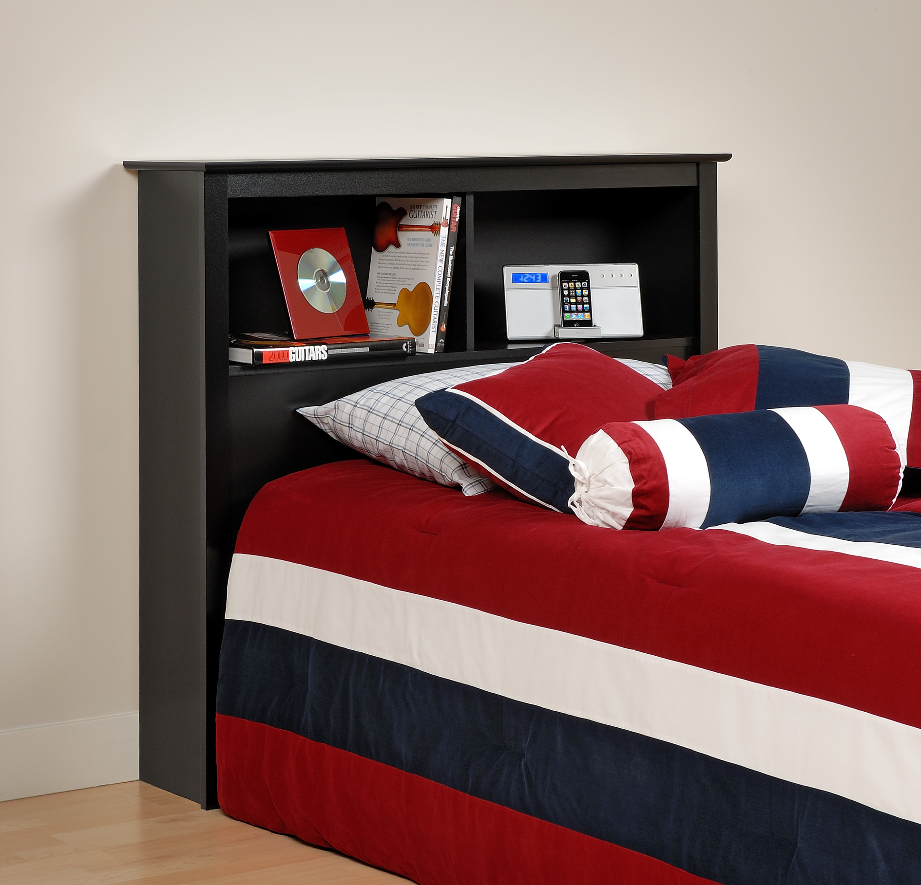 Prepac Black Twin Storage Headboard Bsh4543 Furniture