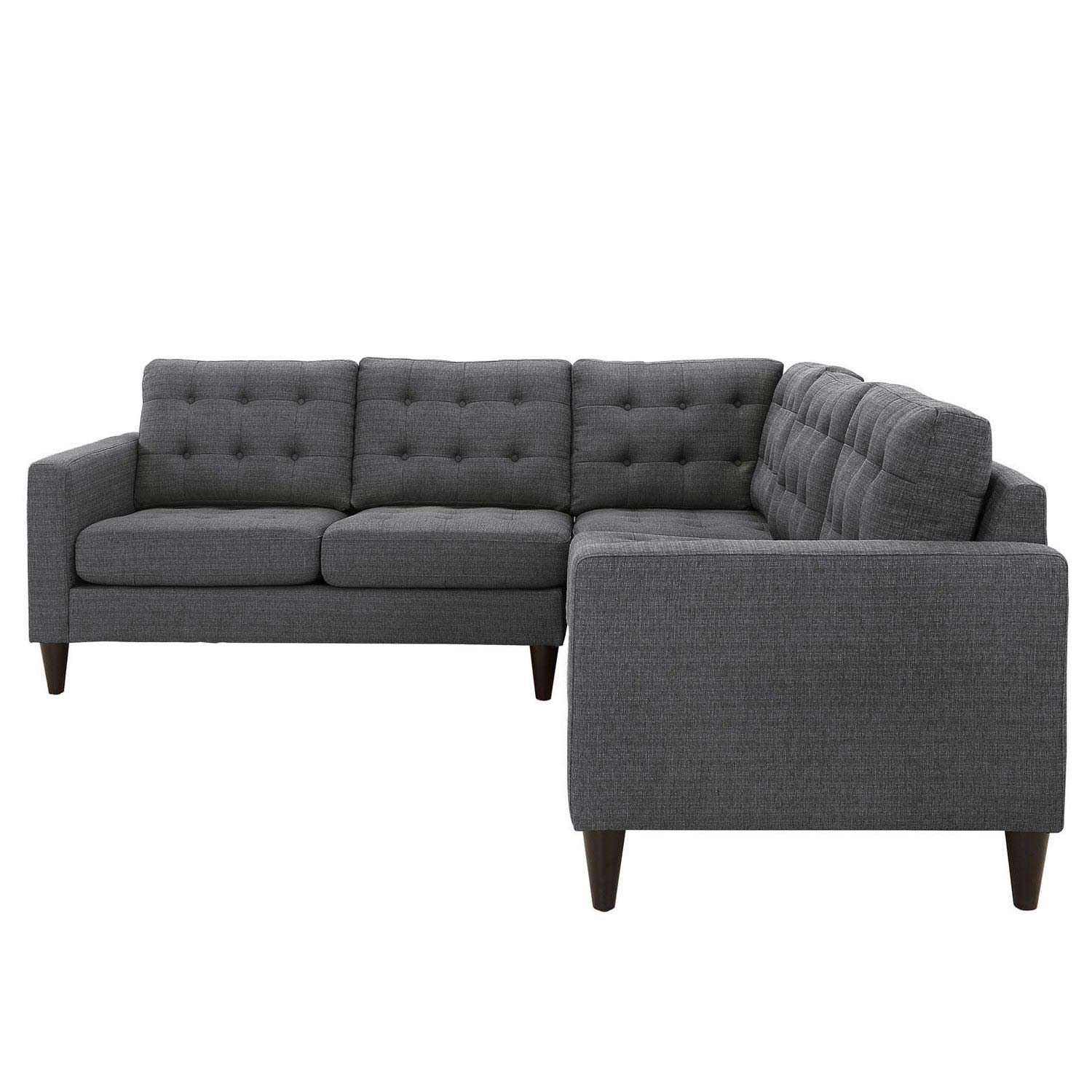 Priscilla EEI-1417DKGY Dark Gray Sectional Sofa  sc 1 st  Wyckes Furniture : dark gray sectional sofa - Sectionals, Sofas & Couches