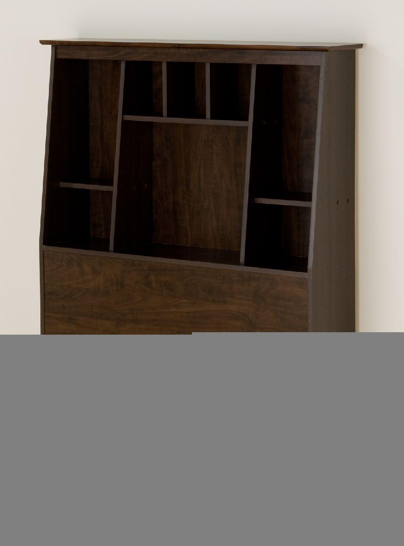 Prepac Espresso Tall Twin Bookcase Headboard ESH4556