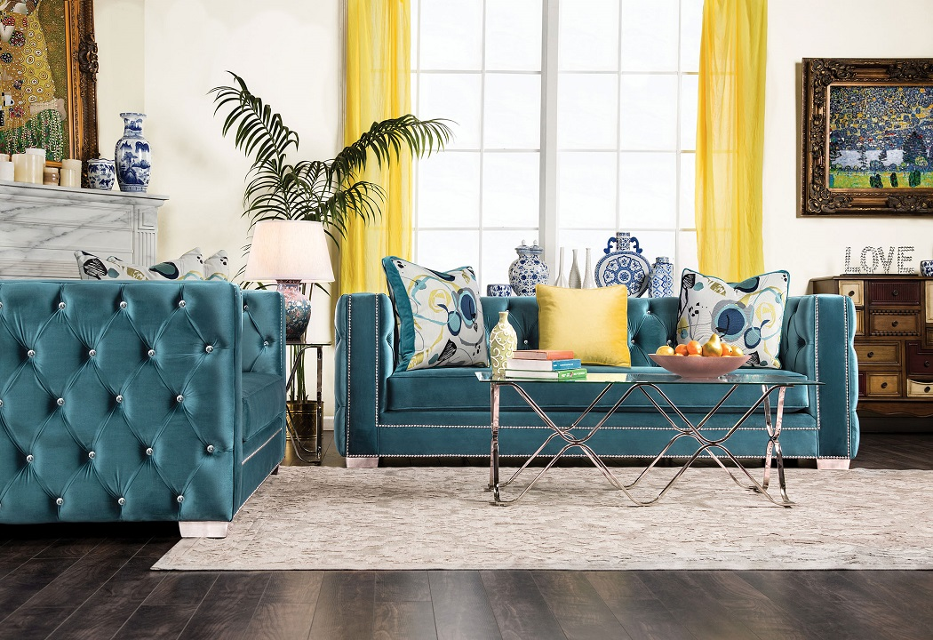 furniture of america living room collections. salvatore collection sm2282 sofa \u0026 loveseat set furniture of america living room collections i