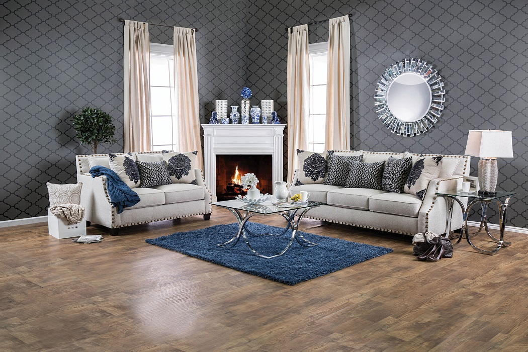 furniture of america living room collections. cornelia collection sm3070 sofa \u0026 loveseat set furniture of america living room collections