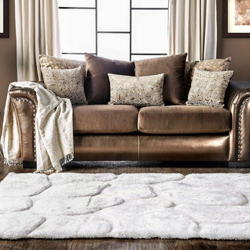 Benigno Brown Fabric SM6414-SF Sofa by Furniture of America