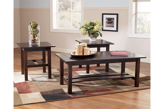 lewis collection t309-13 ashley coffee table set