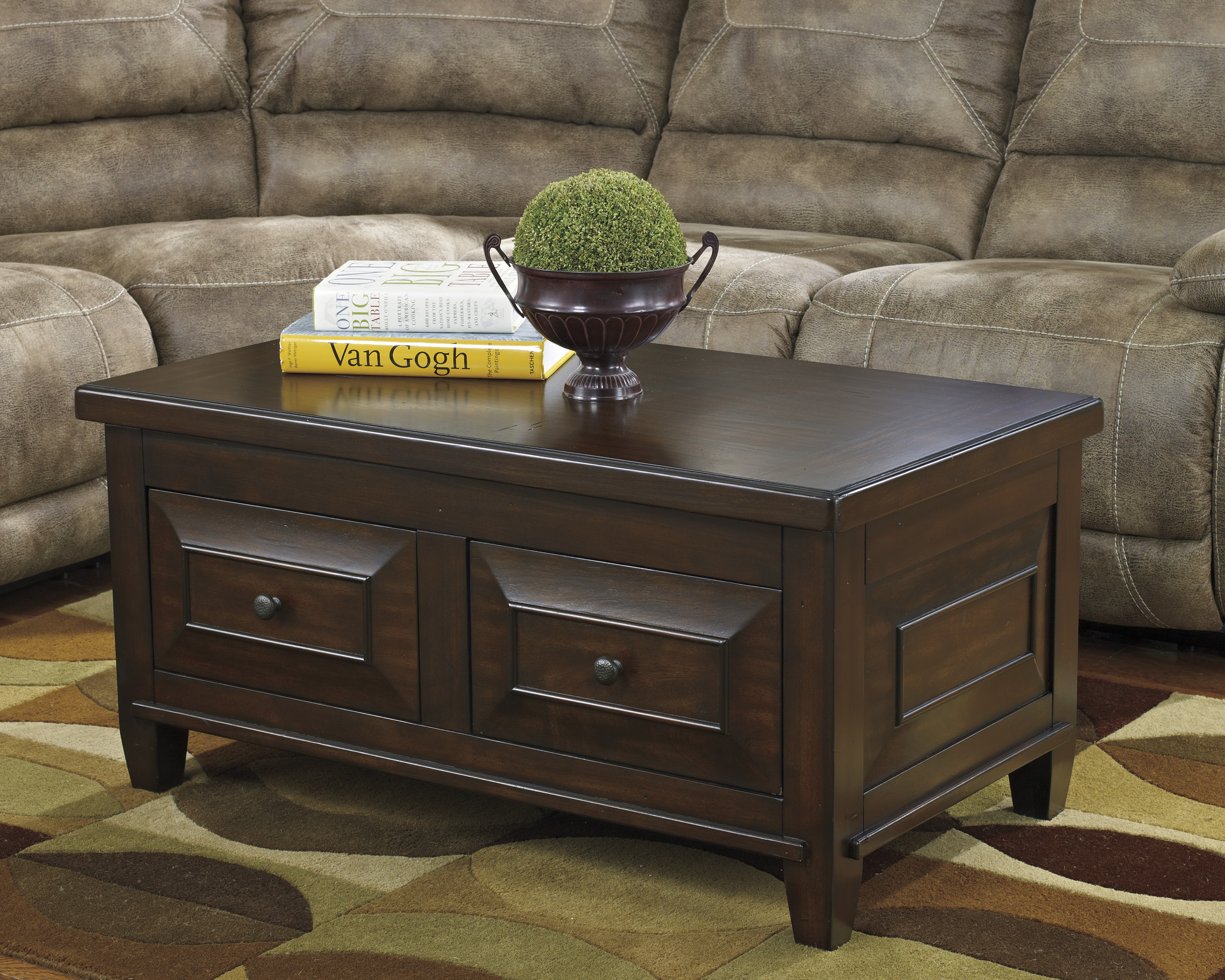 Hindell Park Lift Top Coffee Table T695 by Ashley Transitional Style