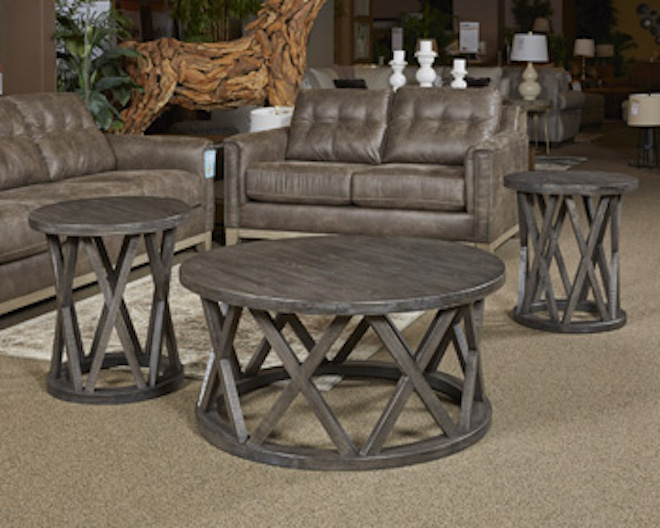 T711 8 Sharzane By Ashley Round Cocktail Table Grayish