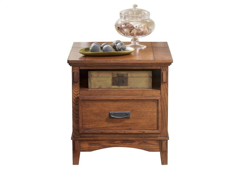 T705 2 Ledelle By Ashley Square End Table In Brown Traditional
