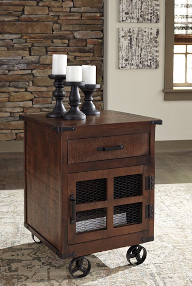 T938 2 Norlandon By Ashley Square End Table Medium Brown