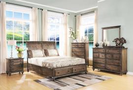 Fallbrook 00-446 Weathered Brown Storage Platform Bedroom Set
