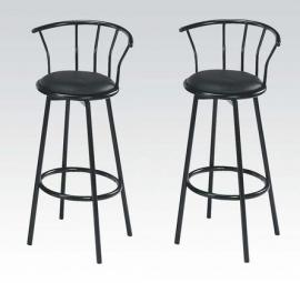 Cucina by Acme 02046BK Bar Height Swivel Stool Set of 2