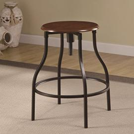Coaster 100199 Rec Room Adjustable Bar Stool in Black