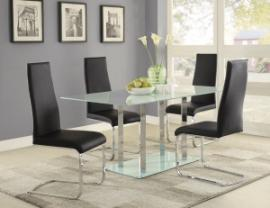 Geneva Collection 100515BLK Dining Table Set