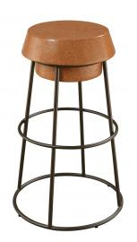 Coaster Rec Room 100906 Bar Stool set of 2 in Light Brown Cork and Bronze