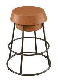 Coaster Rec Room 100907 Bar Stool set of 2 in Light Brown Cork and Bronze