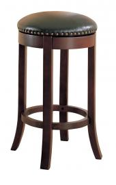 Wooden Walnut Swivel Collection 101060 Bar Stool Set of 2