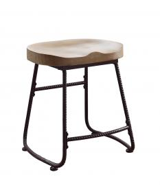 Coaster Rec Room 101083 Bar Stool in Driftwood and Dark Bronze