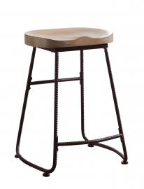 Coaster Rec Room 101085 Bar Stool in Driftwood and Dark Bronze