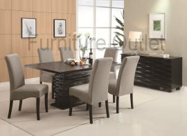 McHenry Collection 102061 Contemporary Dining Table Set