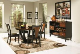Olney Collection 102091 Two Tone Traditional Dining Table Set