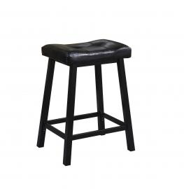 Coaster Rec Room 102135 Bar Stool Set of 2 in Black Leatherette